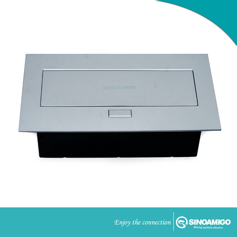 Hộp Ổ cắm điện âm bàn SINOAMIGO STS 212 màu bạc